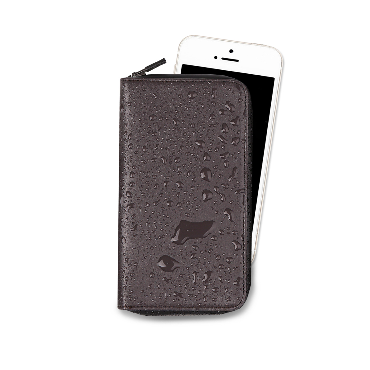 Outside Phone Pocket S_Wine Brown