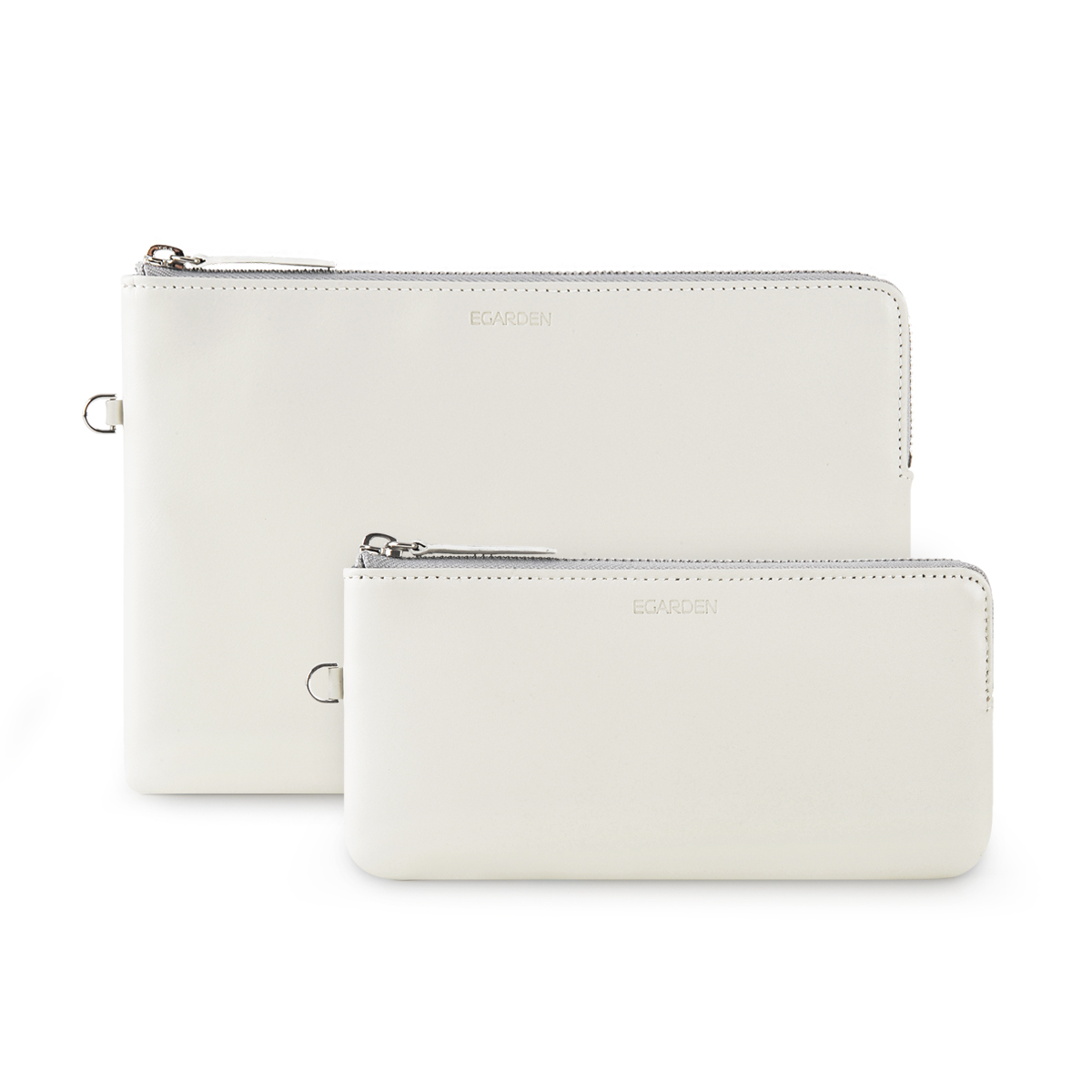 Zip Clutch_White